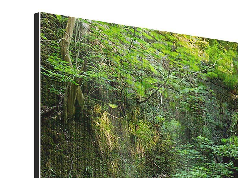 Metallic-Bild 3-teilig modern Fallendes Wasser