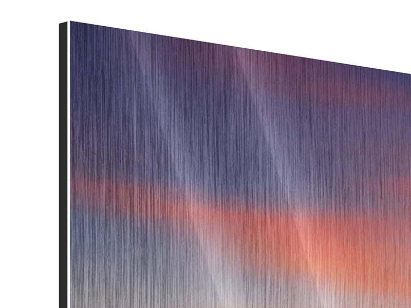 Metallic-Bild 3-teilig modern Märchenhafte Landschaft
