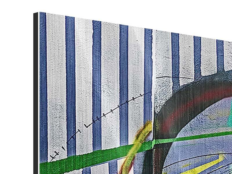 Metallic-Bild 3-teilig modern Künstlerisches Graffiti