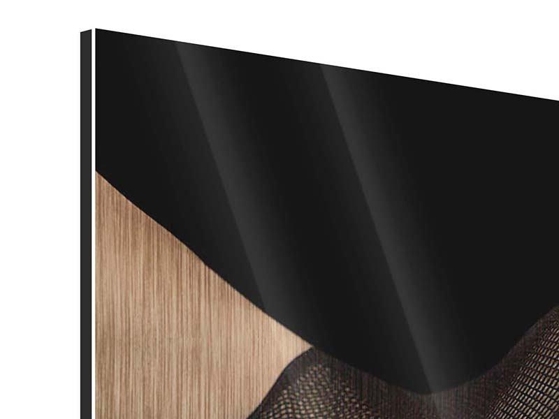 Metallic-Bild 3-teilig modern Strapse