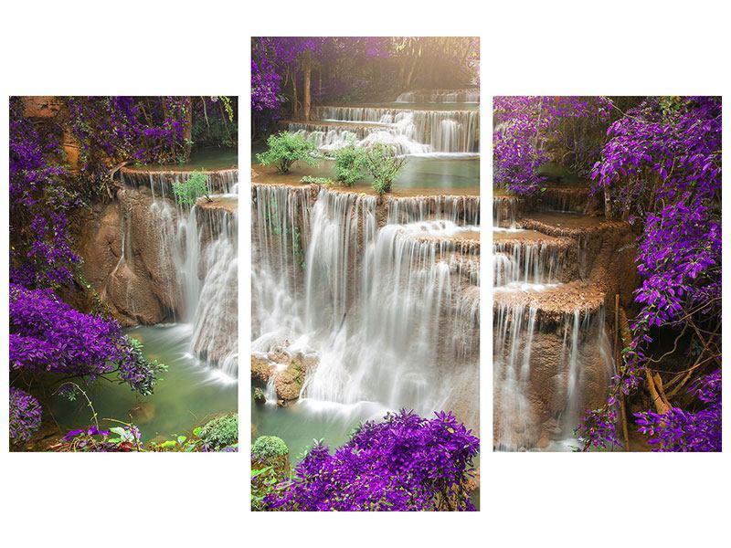 Metallic-Bild 3-teilig modern Garten Eden