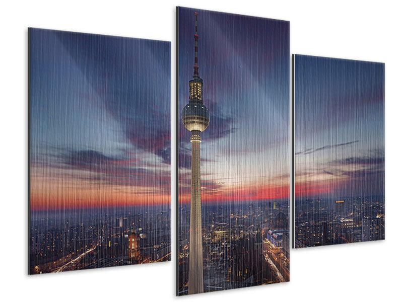 Metallic-Bild 3-teilig modern Berlin