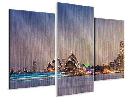 Metallic-Bild 3-teilig modern Opera House