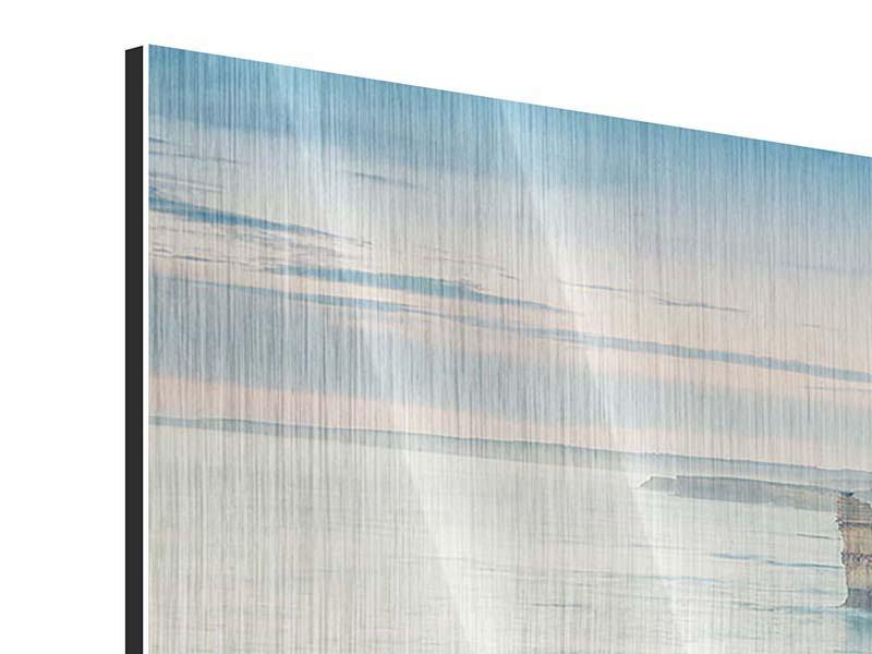 Metallic-Bild 3-teilig modern Felsklippen