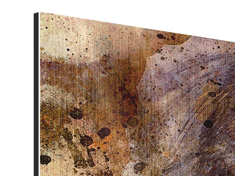 Metallic-Bild 3-teilig modern Portrait eines Löwen