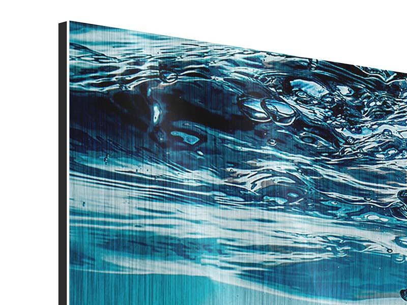 Metallic-Bild 3-teilig modern Eiswürfel-Quadro