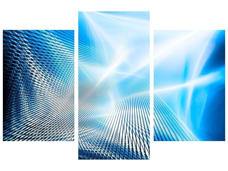 Metallic-Bild 3-teilig modern Laser
