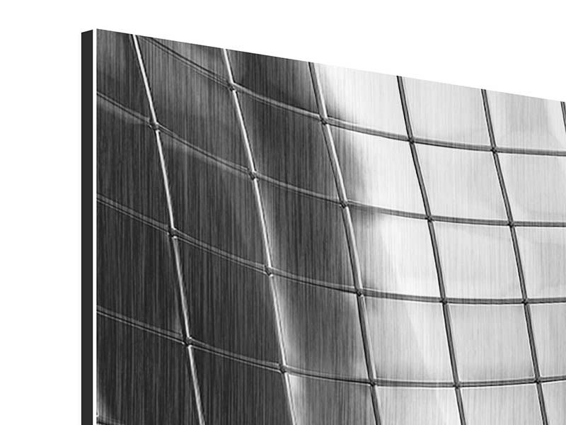 Metallic-Bild 3-teilig modern Abstrakter Stahl