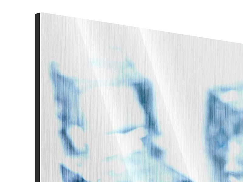 Metallic-Bild 3-teilig modern Viele Eiswürfel