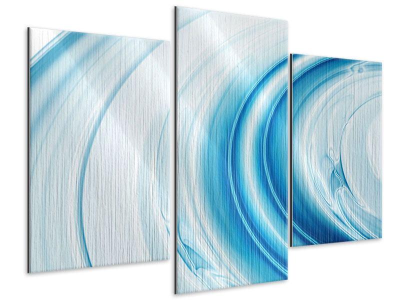 Metallic-Bild 3-teilig modern Abstraktes Glas