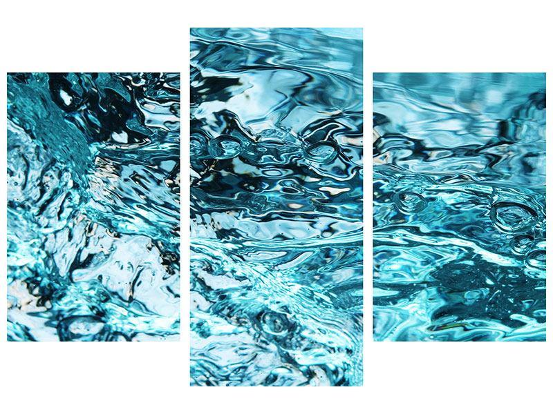 Metallic-Bild 3-teilig modern Schönheit Wasser