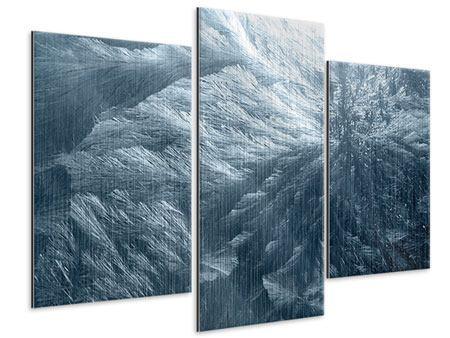 Metallic-Bild 3-teilig modern Eis