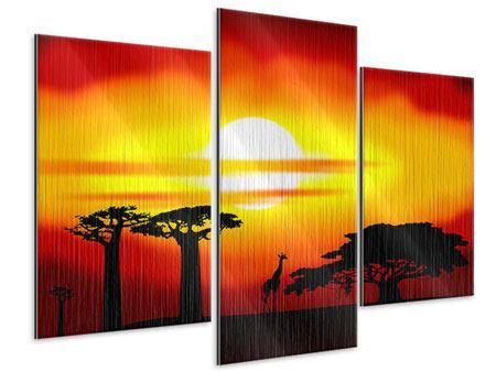Metallic-Bild 3-teilig modern Faszination Afrika