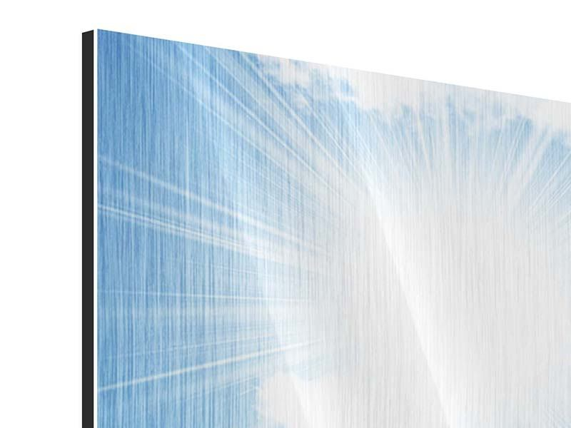 Metallic-Bild 3-teilig modern Am Himmel