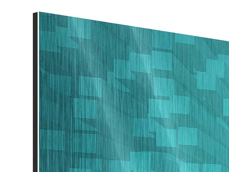 Metallic-Bild 3-teilig modern 3D-Kubusse