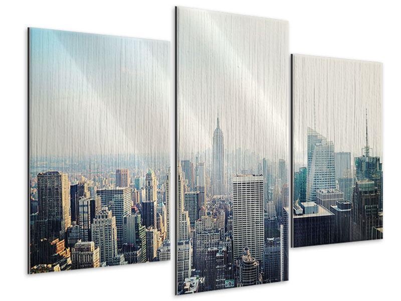 Metallic-Bild 3-teilig modern NYC