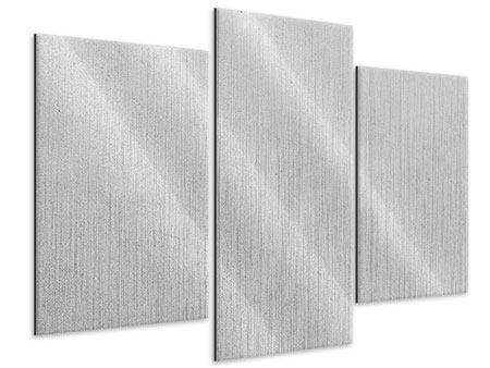 Metallic-Bild 3-teilig modern Beton in Hellgrau