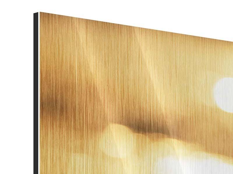 Metallic-Bild 3-teilig modern Der Seestern
