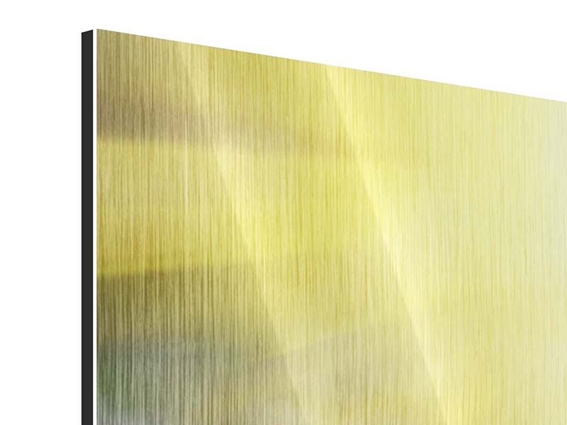 Metallic-Bild 3-teilig modern Blumige Wiese