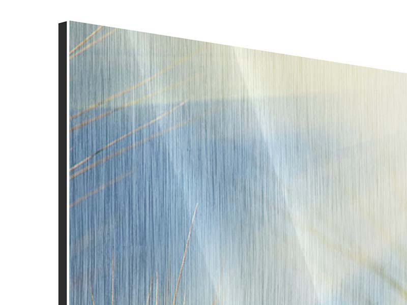 Metallic-Bild 3-teilig modern König des Getreides