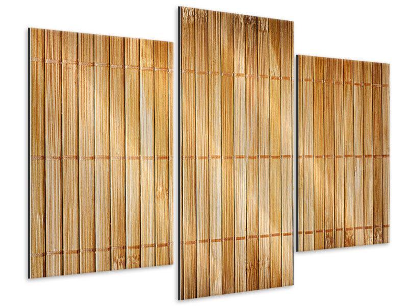 Metallic-Bild 3-teilig modern Bambusrohre
