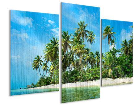 Metallic-Bild 3-teilig modern Reif für die Ferieninsel