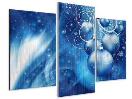 Metallic-Bild 3-teilig modern Shingle Bells