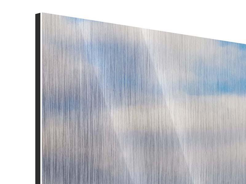 Metallic-Bild 3-teilig modern Pont de Normandie