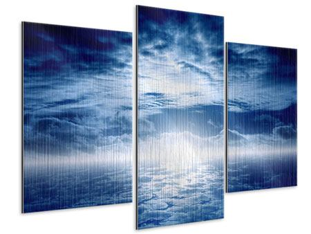 Metallic-Bild 3-teilig modern Mystischer Himmel