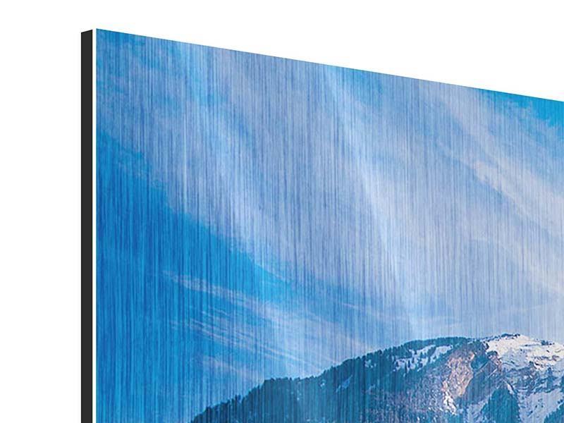 Metallic-Bild 3-teilig modern Winterwunderland