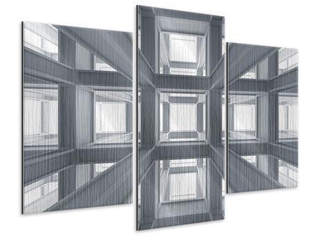 Metallic-Bild 3-teilig modern Räume
