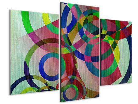 Metallic-Bild 3-teilig modern Wandkunst