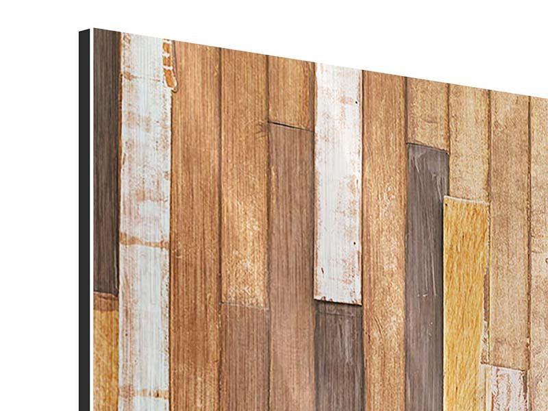 Metallic-Bild 3-teilig modern Designholz