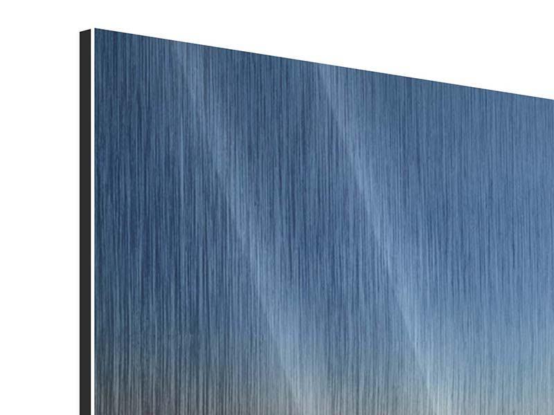 Metallic-Bild 3-teilig modern Privatstrand