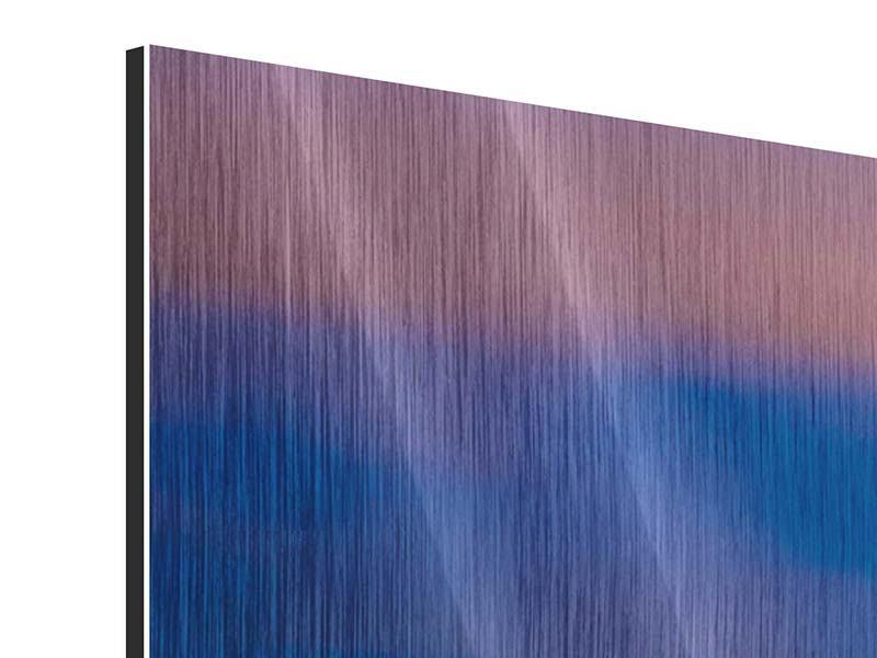 Metallic-Bild 3-teilig modern Skyline Seattle
