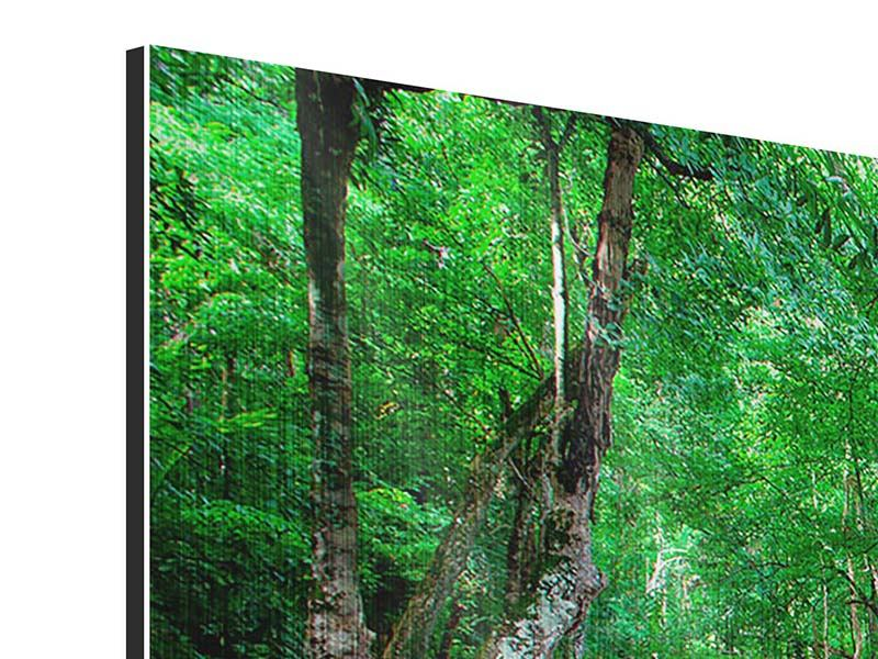 Metallic-Bild 3-teilig modern Am Fusse von Erawan