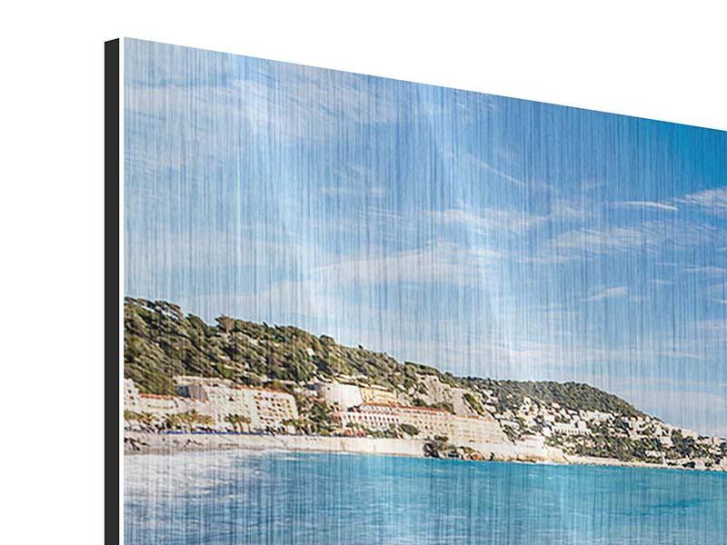 Metallic-Bild 3-teilig modern Cote D`Azur