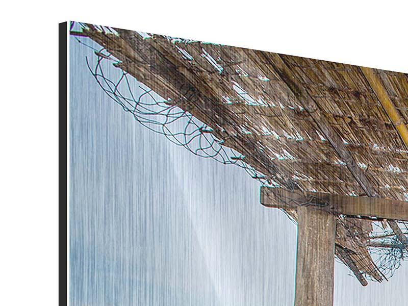 Metallic-Bild 3-teilig modern Hängematte