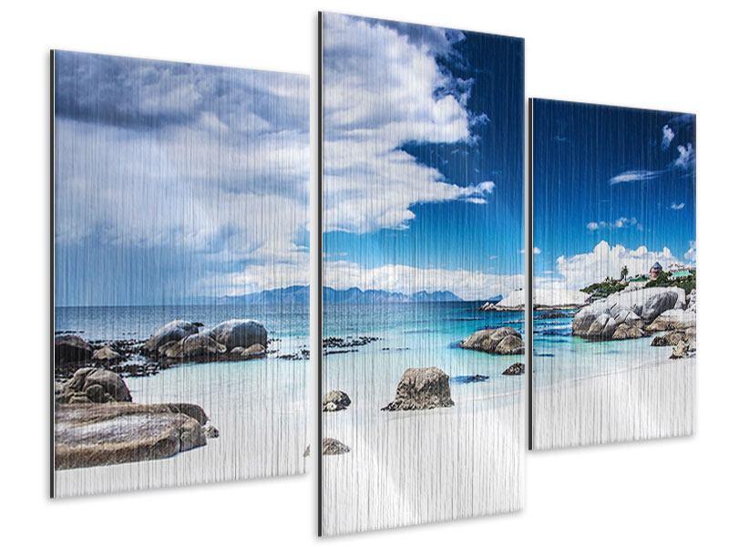 Metallic-Bild 3-teilig modern Inselfeeling