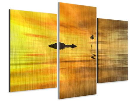 Metallic-Bild 3-teilig modern Ab auf die Insel