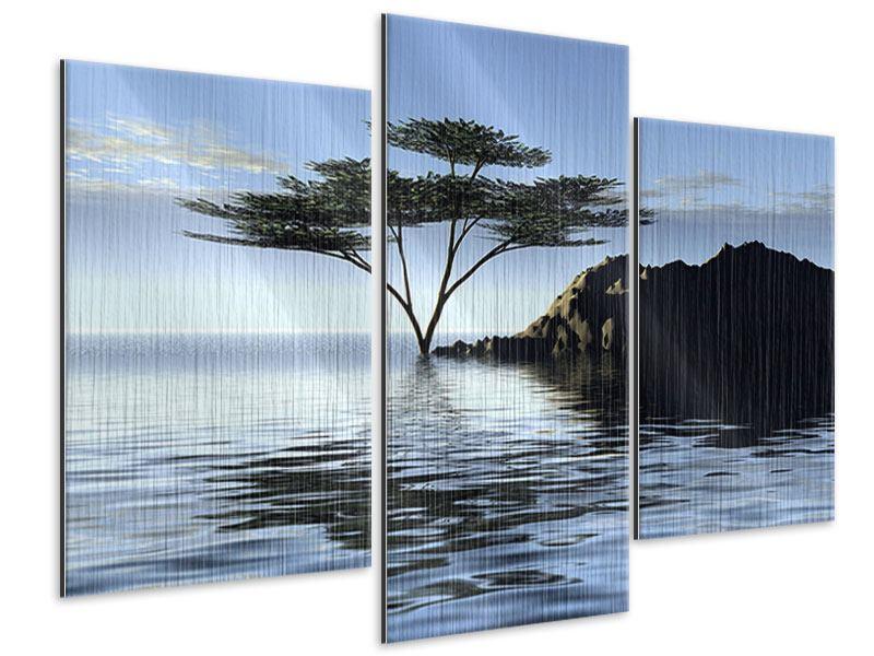 Metallic-Bild 3-teilig modern Naturfaszination