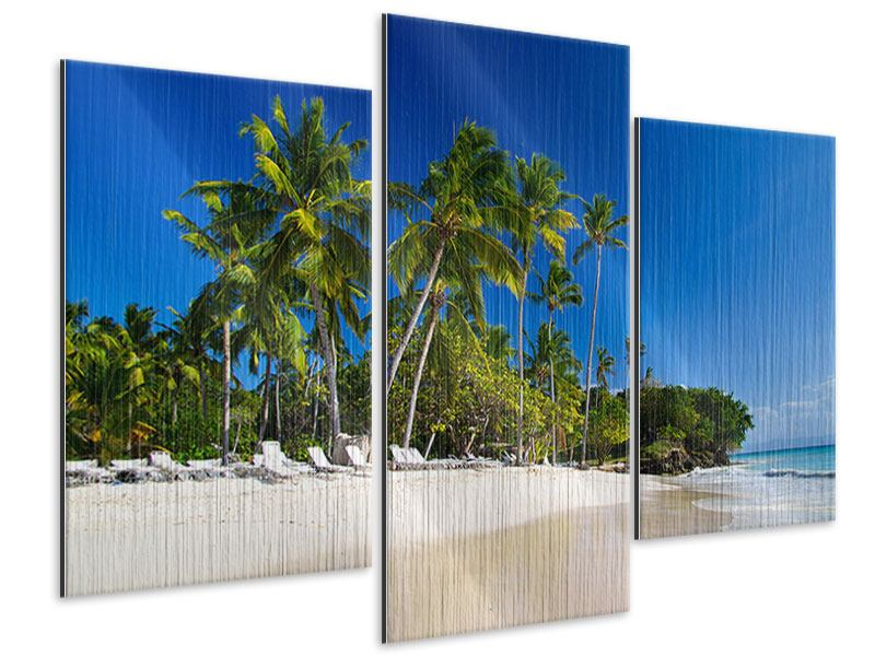 Metallic-Bild 3-teilig modern Aloha