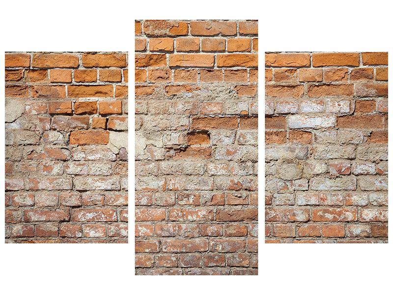 Metallic-Bild 3-teilig modern Alte Klagemauer