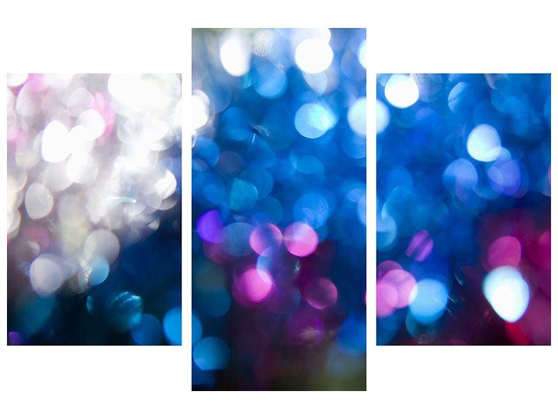 Metallic-Bild 3-teilig modern Abstraktes Licht