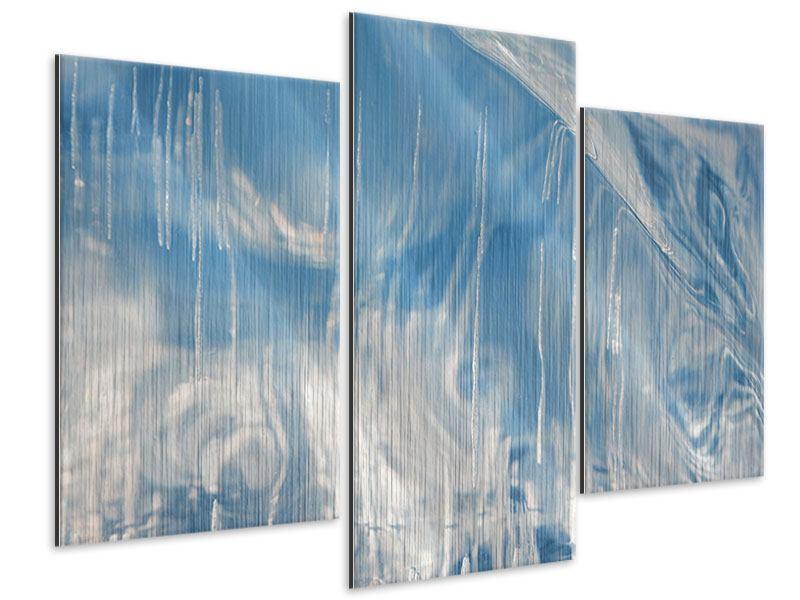 Metallic-Bild 3-teilig modern Das Eis des Baikalsees