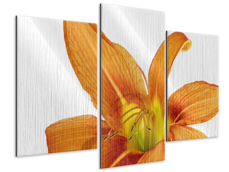 Metallic-Bild 3-teilig modern Die Tiger-Lilie