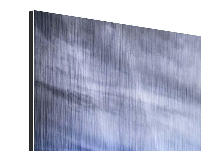 Metallic-Bild 3-teilig modern Strandwellen
