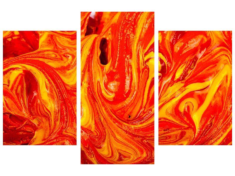 Metallic-Bild 3-teilig modern Wandgemälde