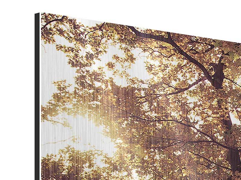 Metallic-Bild 3-teilig modern Landschaftspark