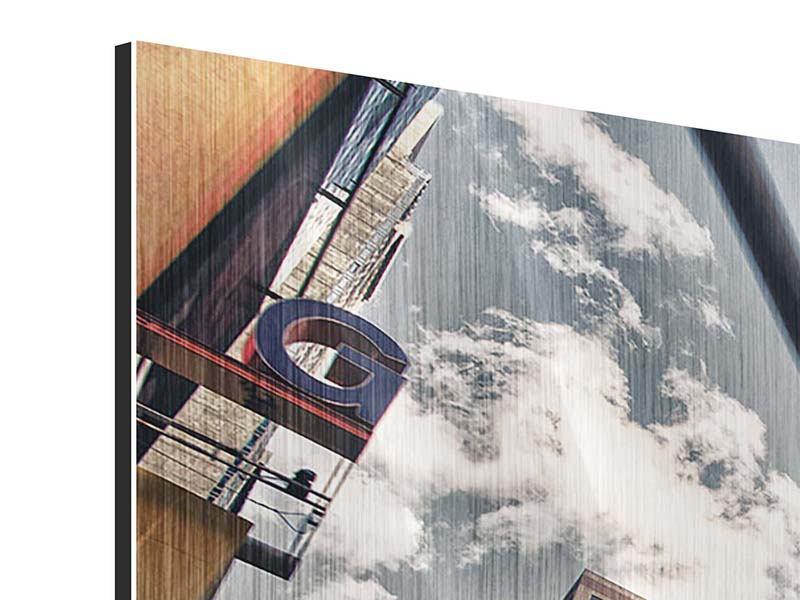 Metallic-Bild 3-teilig modern Times Square